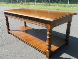 SOLD - Antique Style Long Oak Coffee Table
